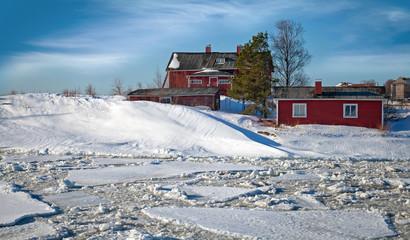 Classical Scandinavian village