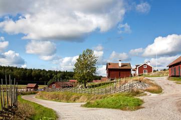 Road to an idyllic village