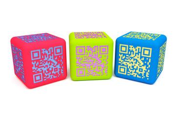 Fotobehang Pixel Colorful QR cubes 2