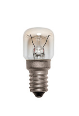 Glass bulb. Isolated image