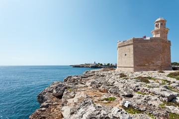 Castell an der Hafeneinfahrt von Ciutadella - Menorca