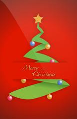Christmas tree card pocket folder card