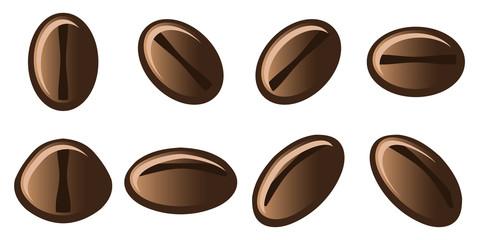 Coffee Beans Vector Illustration