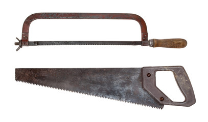 Old saws for metal and wood
