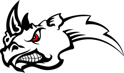 rhinoceros tattoo tribal