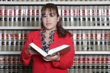 Female Lawyer with Law Book