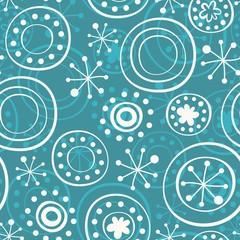 białe gwiazdki na błękitnym tle