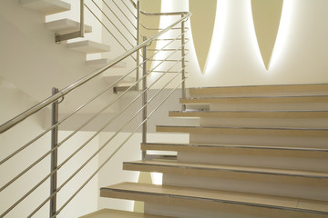 Foto op Aluminium Trappen Light stairs