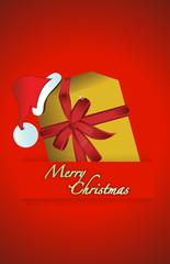 Christmas gift and hat illustration design