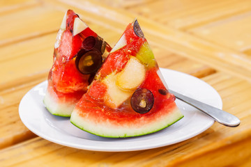 mixed fruit watermelon