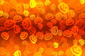 Pumpkin bokeh Halloween background
