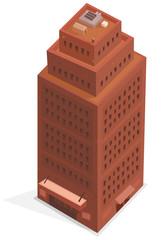 Big Business Isometric Building