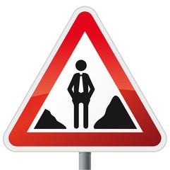 Schild Baustelle mit Personalproblem