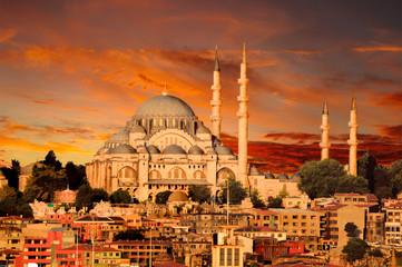 Hagia Sophia in Istanbul at dusk
