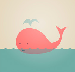Fototapeta premium Śliczny wieloryb