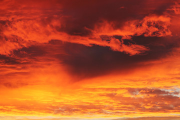 orangefarbener Himmel...Dämmerung