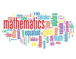 """MATHEMATICS"" Tag Cloud (science studies statistics equations)"