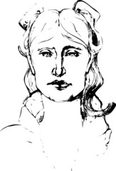 vector portrait of a woman