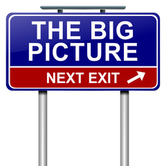 The big picture concept.