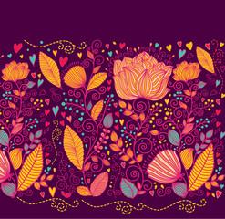 Leinwandbilder - Vector floral background