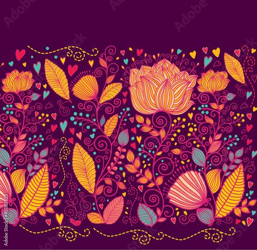 Fototapete Vector floral background