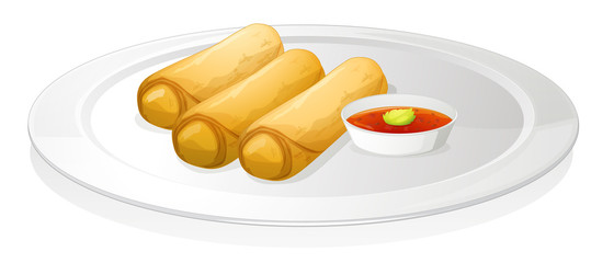 Bread roll and sauce