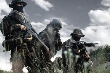 Bundeswehr soldiers in full gear