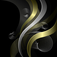 Abstract background with golden patterns