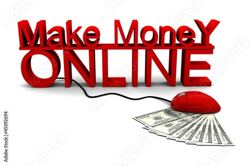 Make Money Online With Mouuse 3d Render Of Dollar Stock Photo And