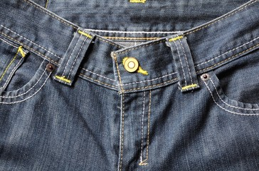 close up blue  jeans with pockets