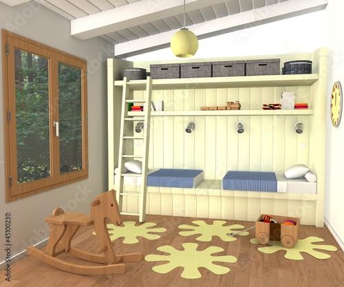 Chambre enfant mixte photo libre de droits sur la banque for Chambre enfant mixte