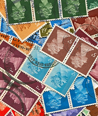 Postage stamps.