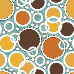 kolorowe koła na turkusowym tle
