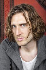 curly hairdo