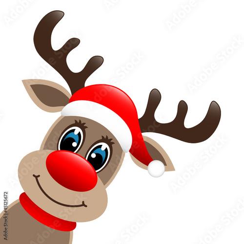 quot rudolph with hat quot  stockfotos und lizenzfreie vektoren auf rudolph the red nosed reindeer clipart black and white rudolph the red nosed reindeer clipart black and white