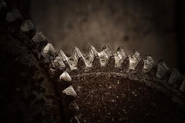Verrostete alte Zahnräder