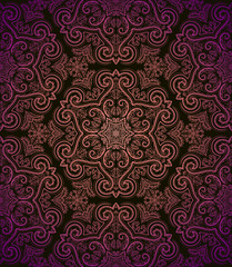 Vintage seamless pattern in retro style