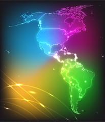 Amerika in Neonfarben