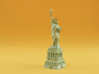 liberty statue isolated in studio background