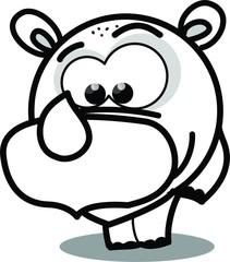 Мультфильм вектор носорога