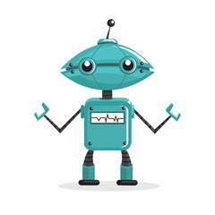 Spoed Foto op Canvas Robots Cartoon robot, vector illustration