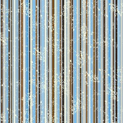 striped shabby pattern, brown and blue
