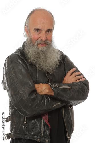 Fototapete portrait vieux routard
