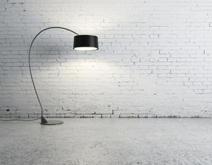 floor lamp in room