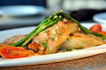 Chicken Crepes with mushroom sauce