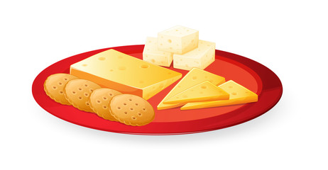 cheese biscuits in plate