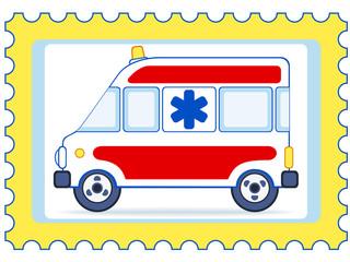Ambulance postage stamp