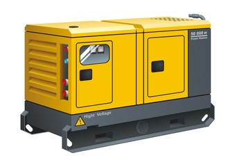 Stationary Diesel Generator vector