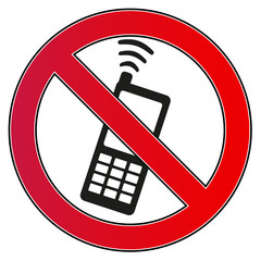 Verbotsschild Handy Smartphone