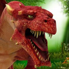 Papiers peints Dragons florest dragon ahead
